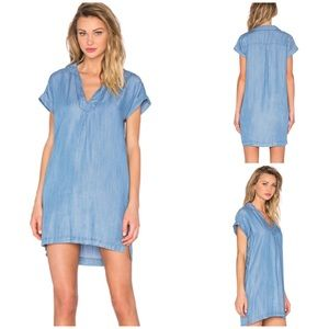 Soft Joie Rasia Collared V Neck Dress Chambray XS